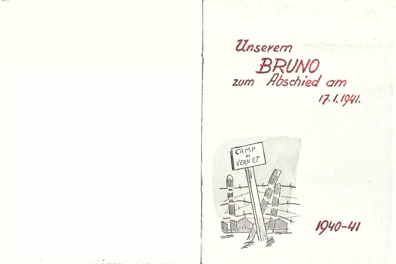 Carnet de dessins offert à Bruno Frei