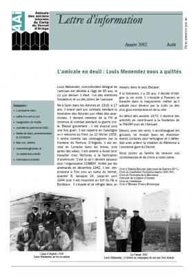 Bulletin août 2002