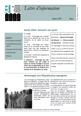 Bulletin mars 2004