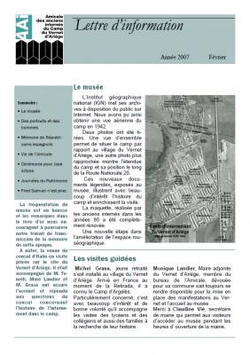 Bulletin février 2007