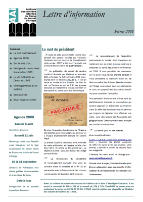 Bulletin février 2008