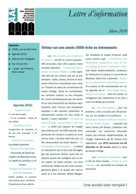 Bulletin mars 2010