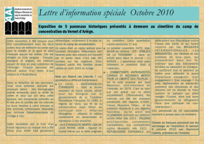 Bulletin octobre 2010