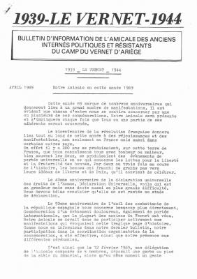 Bulletin 27 1989